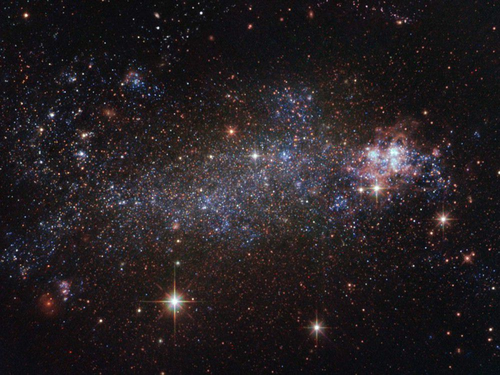Hubble capta la galaxia irregular 5408