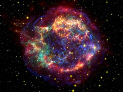 El espectacular remanente de una supernova