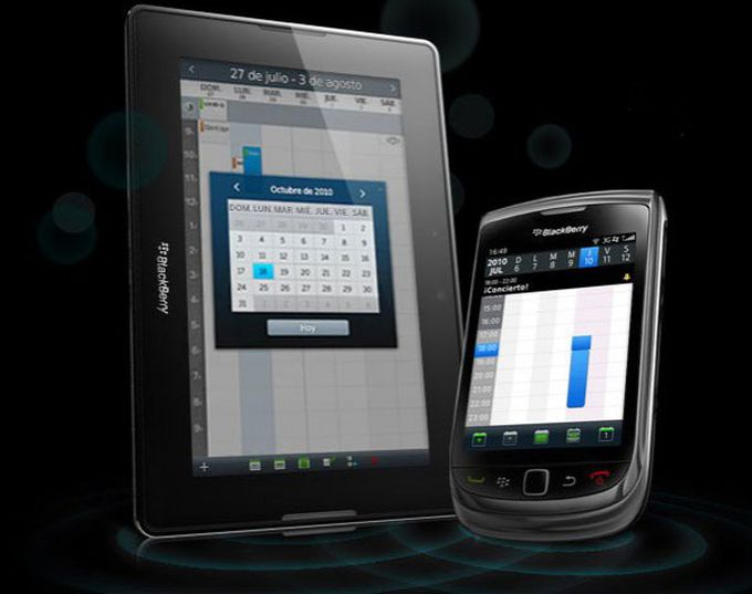 Pantalla de la nueva tableta de Blackberry