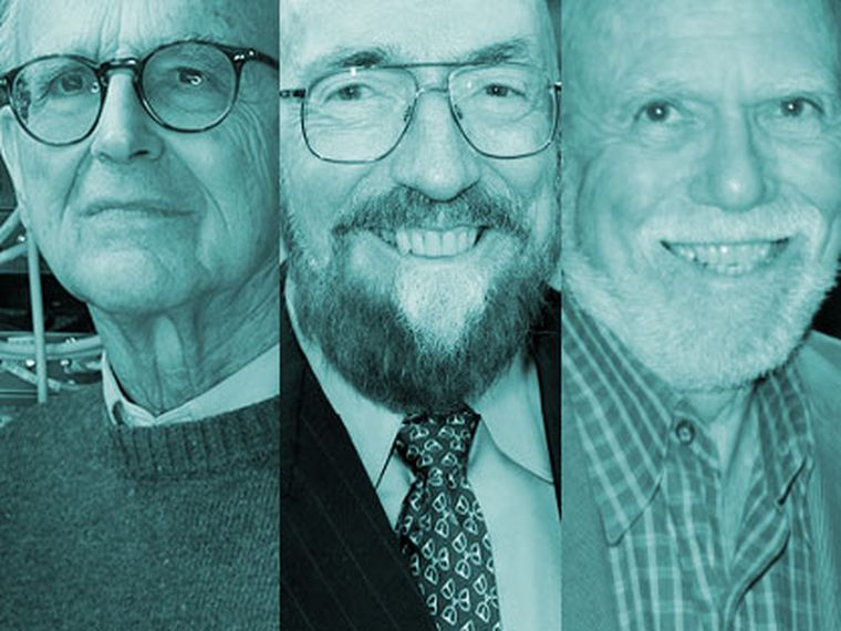 Rainer Weiss, Barry Barish y Kip Thorne