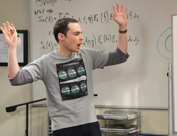 Sheldon en The Big Bang Theory