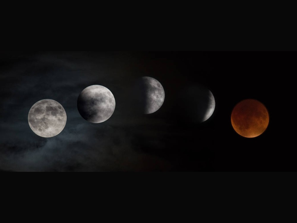 Fases del eclipse de superluna